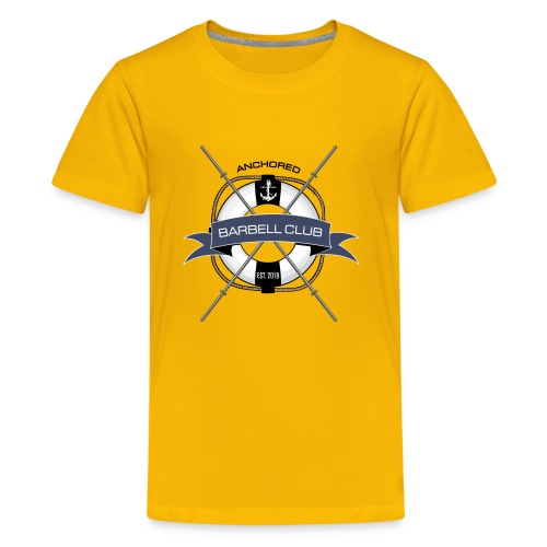 Anchored Barbell Club Colored - Kids' Premium T-Shirt