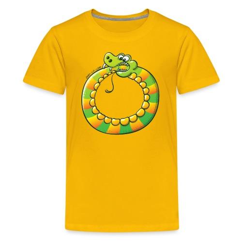 Crazy Snake Biting its own Tail - Kids' Premium T-Shirt