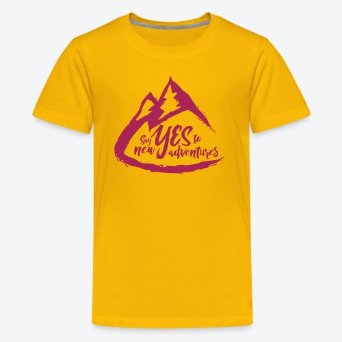 Say Yes to Adventure - Coloured - Kids' Premium T-Shirt