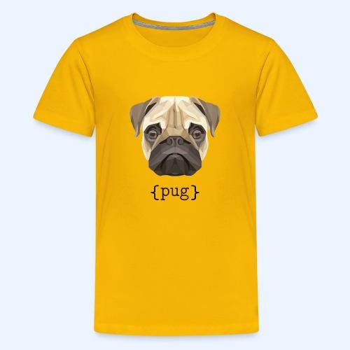 Cute Watercolor Pug Face Definition - Kids' Premium T-Shirt