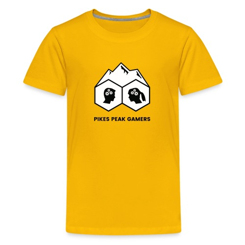 Pikes Peak Gamers Logo (Solid White) - Kids' Premium T-Shirt