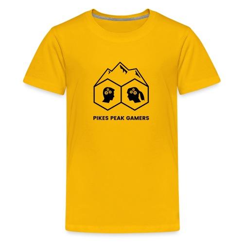 Pikes Peak Gamers Logo (Transparent Black) - Kids' Premium T-Shirt