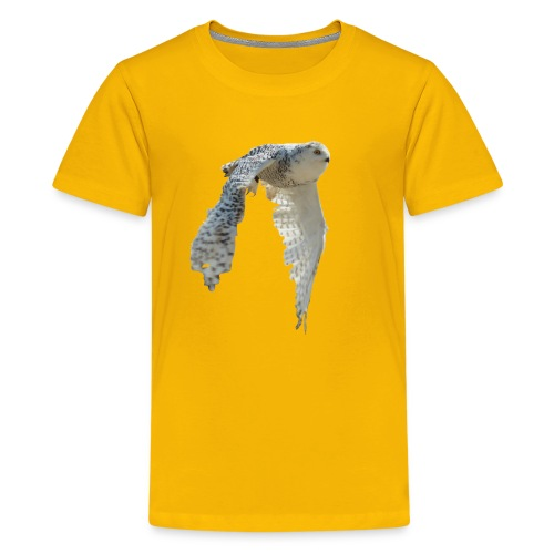 snowy owl Hedwig cute awesome photo art - Kids' Premium T-Shirt