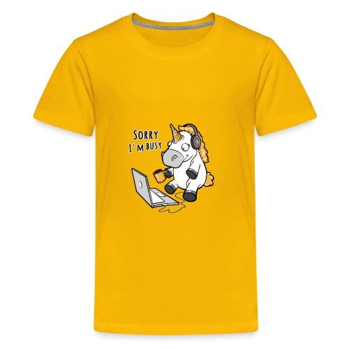 Sorry i'm busy, funny unicorn, music T Shirt - Kids' Premium T-Shirt