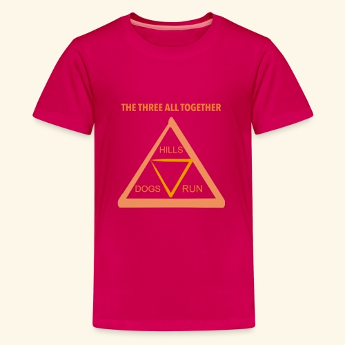 Run4Dogs Triangle - Kids' Premium T-Shirt