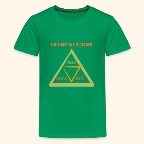 Run4Dogs Triangle - Kids' Premium T-Shirt