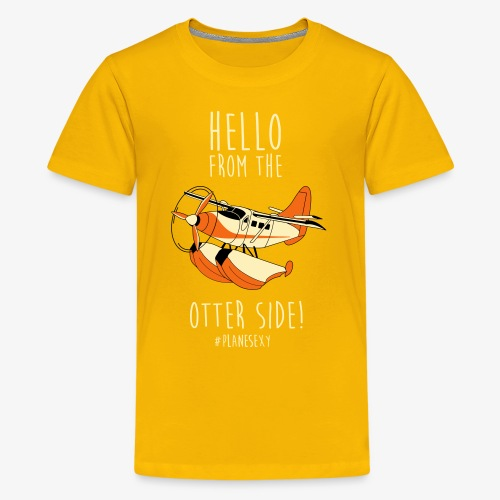 Hello From the Otter Side! - Kids' Premium T-Shirt