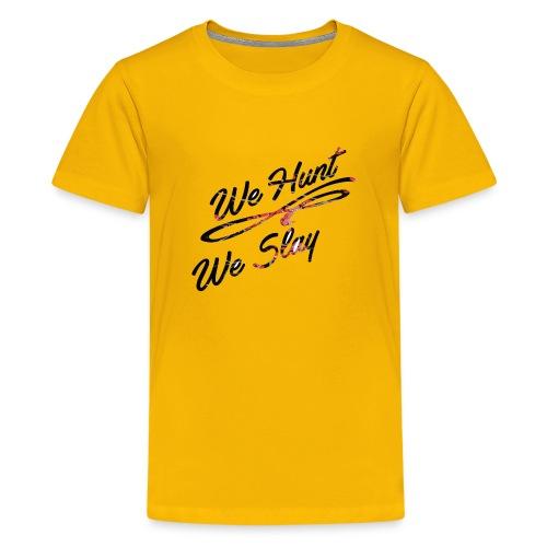 We Hunt We Slay Cherry Blossom - Kids' Premium T-Shirt