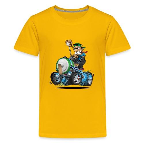 Hot Rod Electric Car Cartoon - Kids' Premium T-Shirt
