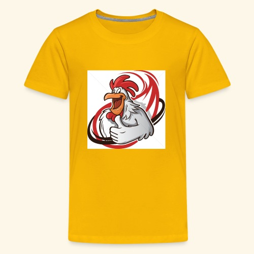 cartoon chicken with a thumbs up 1514989 - Kids' Premium T-Shirt