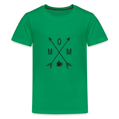 Mom Loves Coffee (black ink) - Kids' Premium T-Shirt