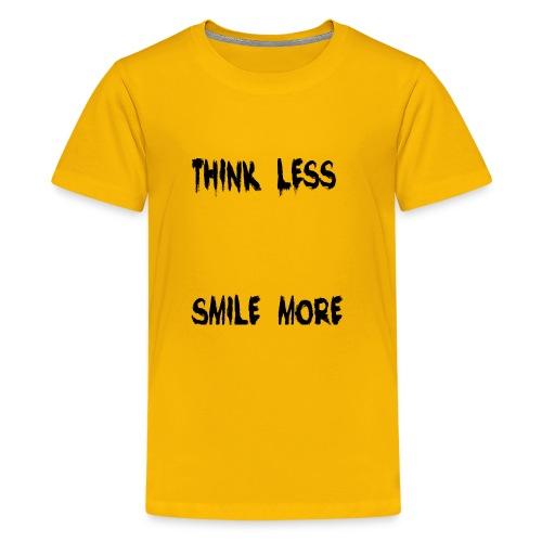 think less smile more - Kids' Premium T-Shirt