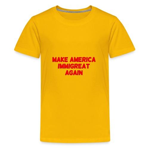 ImmiGREAT - Red - Kids' Premium T-Shirt