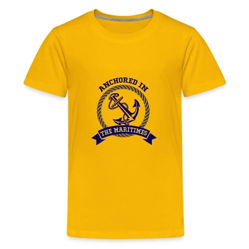 Anchored in the Maritimes - Kids' Premium T-Shirt