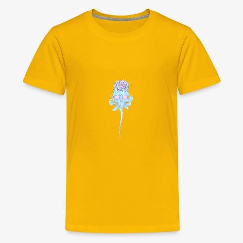 Skull rose plain - Kids' Premium T-Shirt