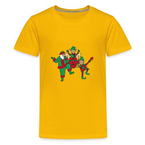 santa elves band w/ CD Music drums - Kids' Premium T-Shirt