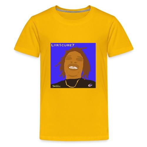 Lyr1cure7 Cartoon face Design - Kids' Premium T-Shirt