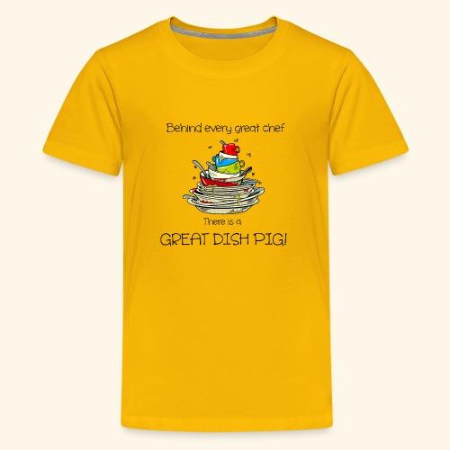Great dish pig - Kids' Premium T-Shirt