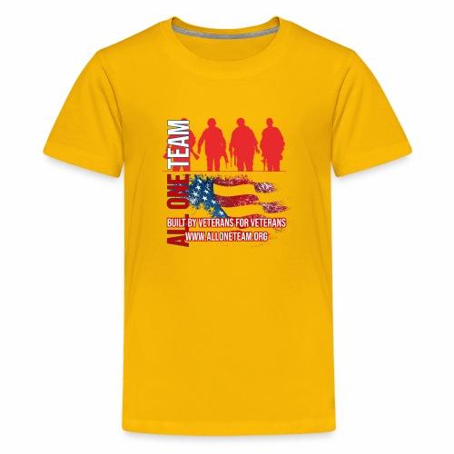 All One Team Sideways Design with Flag - Kids' Premium T-Shirt