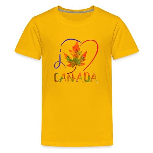 J'AIME LE CANADA - T-shirt premium pour ados