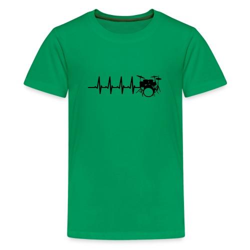 Drums Heartbeat Funny drummer - Kids' Premium T-Shirt