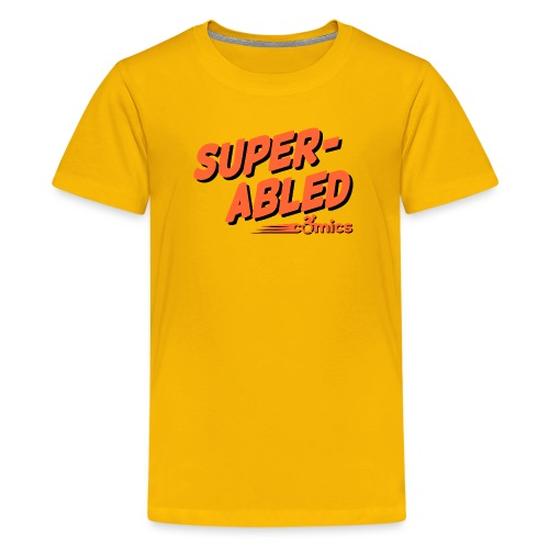 Super-Abled Comics orange + black - Kids' Premium T-Shirt