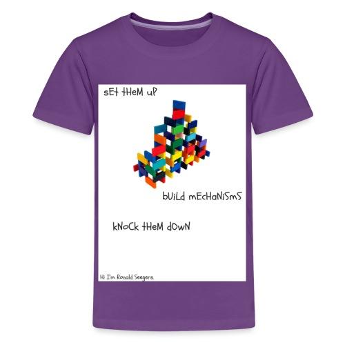 Hi I'm Ronald Seegers Collection-dominoes - Kids' Premium T-Shirt