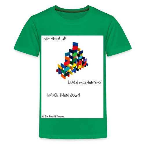 Hi I'm Ronald Seegers Collection-dominoes - Kids' Premium T-Shirt
