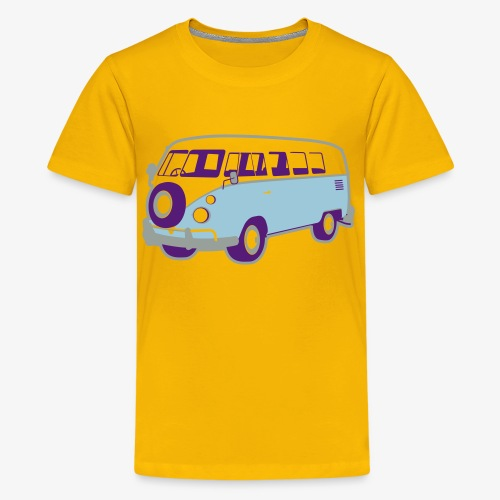 Surf surfers camper hippy surfbus - Kids' Premium T-Shirt