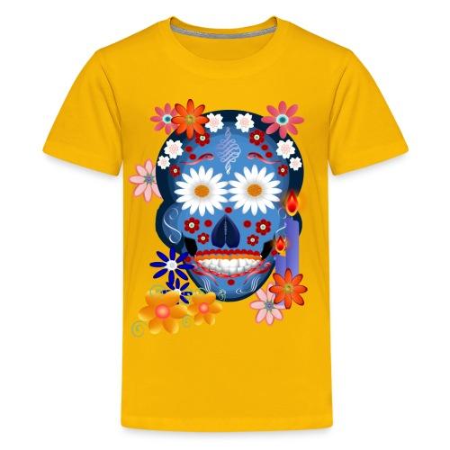 DarkSkull-day of the dead - Kids' Premium T-Shirt
