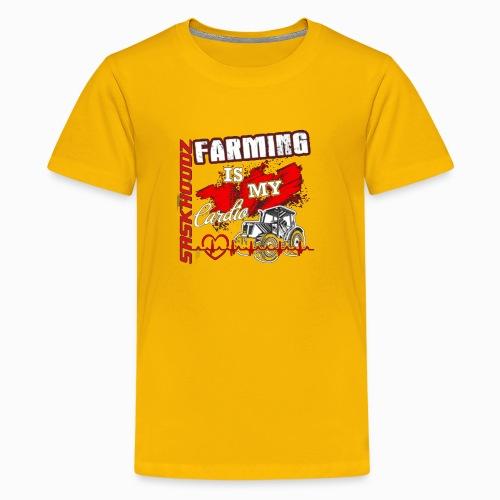 saskhoodz farming - Kids' Premium T-Shirt