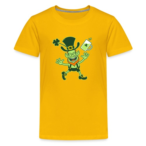 Euphoric Leprechaun Celebrating St Patrick's Day - Kids' Premium T-Shirt