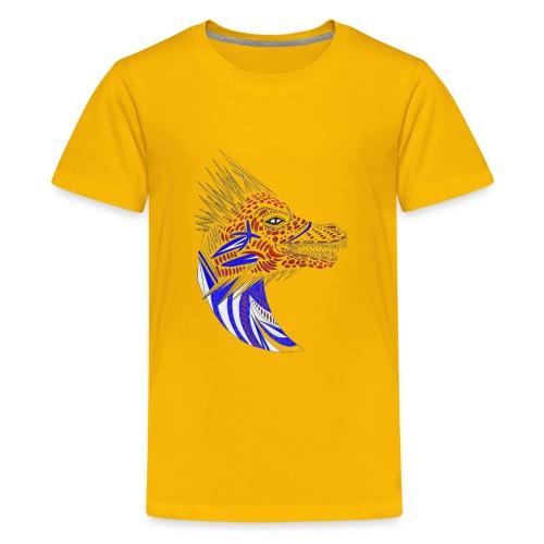 Blue dragon head - Kids' Premium T-Shirt
