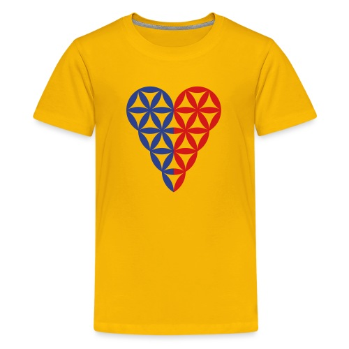 Dual Heart, Male-Female Duality. Vector image. - Kids' Premium T-Shirt