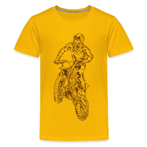 Motocross Dirt Bike Jump - Kids' Premium T-Shirt