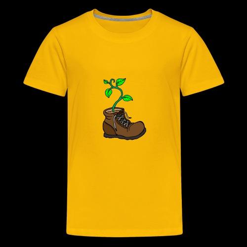 Plant In Boot - Kids' Premium T-Shirt