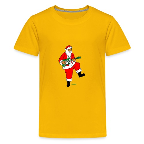 santa clause guitar - Kids' Premium T-Shirt