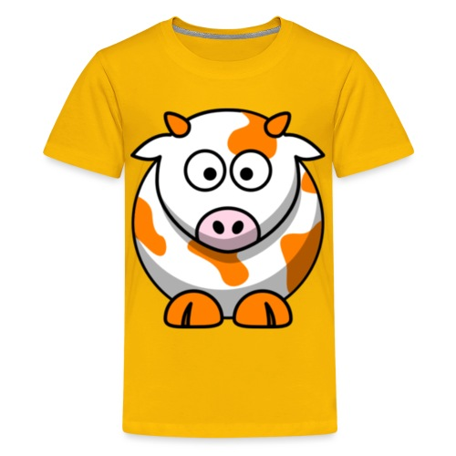 Orange Cow - Kids' Premium T-Shirt