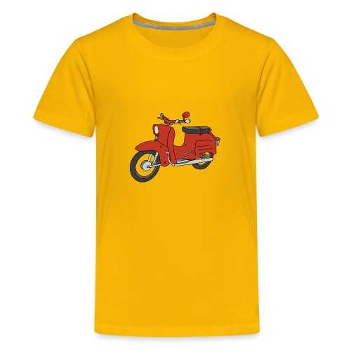 Schwalbe, ibiza-red scooter from GDR - Kids' Premium T-Shirt