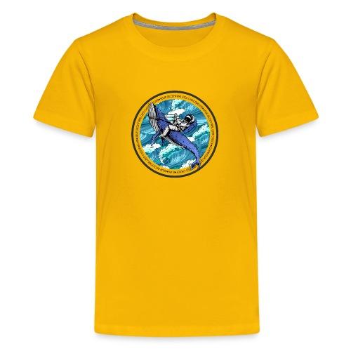 Astronaut Whale - Kids' Premium T-Shirt
