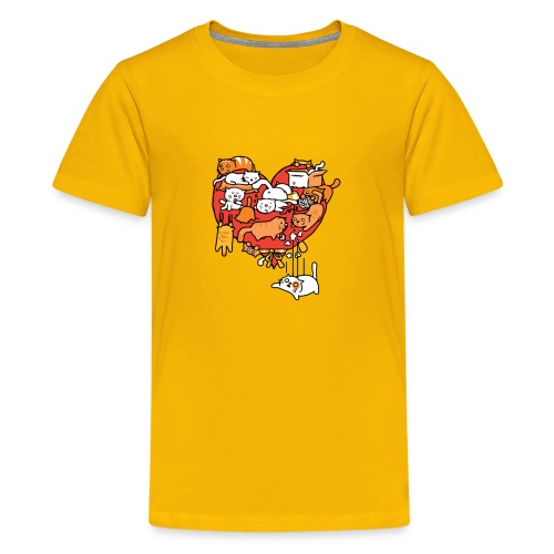 Catlentine s Day - Kids' Premium T-Shirt