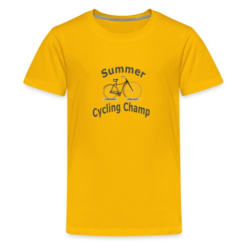 Summer Cycling Champ - Kids' Premium T-Shirt