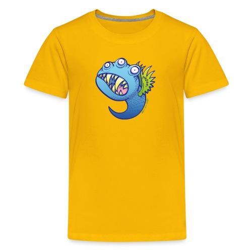 Winged little blue monster - Kids' Premium T-Shirt