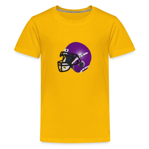purple footbal lhelmet - Kids' Premium T-Shirt