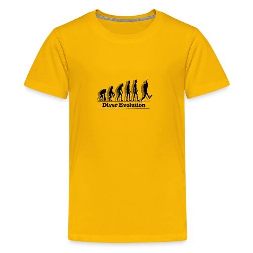 Diver Evolution - Kids' Premium T-Shirt