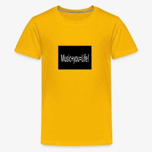 Music+you=Life - Kids' Premium T-Shirt