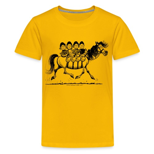Gang of four Thelwell Cartoon - Kids' Premium T-Shirt
