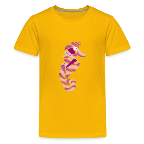 pink metallic seahorse - Kids' Premium T-Shirt