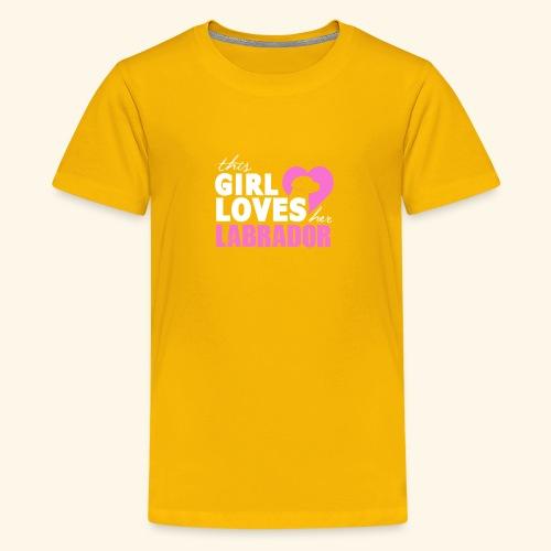 Girls Love Labrador - Kids' Premium T-Shirt
