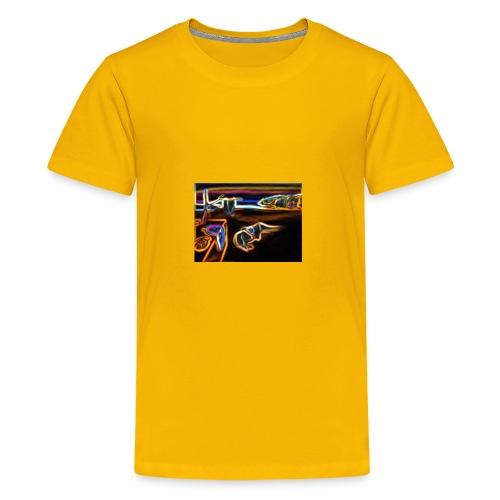 Melted Neon Dali - Kids' Premium T-Shirt